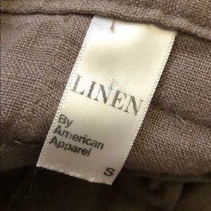 American Apparel linen high waisted shorts
